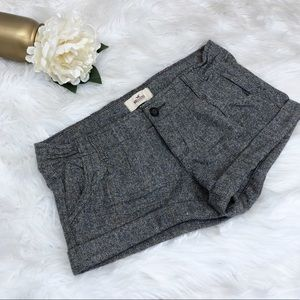 SALE 3/$20! Hollister Tweed Wool Silk Shorts Sz 3